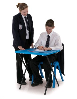 T10 EXAM DESK BLUE